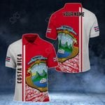 Customize Costa Rica Coat Of Arms - Special Version All Over Print Polo Shirt