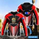 Customize Puerto Rico Coat Of Arms & Map Style All Over Print Hoodies