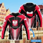 Customize Poland Coat Of Arms & Map Style All Over Print Hoodies