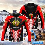 Customize Portugal Coat Of Arms & Map Style All Over Print Hoodies