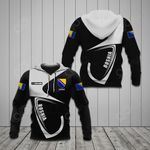 Customize Bosnia Coat Of Arms & Flag All Over Print Hoodies