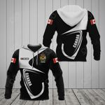 Customize Canada Coat Of Arms & Flag All Over Print Hoodies