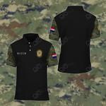 Customize Croatian Armed Force Camo All Over Print Polo Shirt