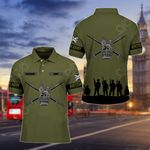 Customize British Army Symbol V2 All Over Print Polo Shirt