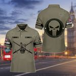 Customize British Army Punisher Skull All Over Print Polo Shirt