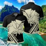 Hawaiian Map Kanaka Identifier Brusch Style Ver02 All Over Print Polo Shirt