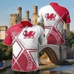 Wales Legend All Over Print Polo Shirt