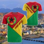 Cabo Verde - Prior National Flag Of Cabo Verde (1975 - 1992) All Over Print T-shirt
