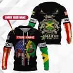 Customize America Living Legend But The Real Legends Are Born With Jamaican Blood All Over Print Hoodies