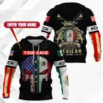 Customize America Living Legend But The Real Legends Are Born With Mexican Blood All Over Print Hoodies