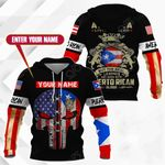 Customize America Living Legend But The Real Legends Are Born With Puerto Rican Blood All Over Print Hoodies