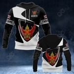 Customize Thailand Coat Of Arms - Flag V2 All Over Print Hoodies