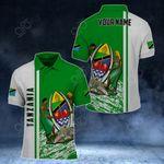 Customize Tanzania Coat Of Arms - Special Version All Over Print Polo Shirt