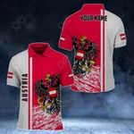 Customize Austria Coat Of Arms - Special Version Version All Over Print Polo Shirt