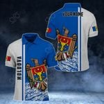 Customize Moldova Coat Of Arms - Special Version All Over Print Polo Shirt