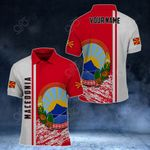 Customize Macedonia Coat Of Arms - Special Version All Over Print Polo Shirt
