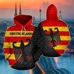 Deutschland - Germany Flag Color All Over Print Hoodies