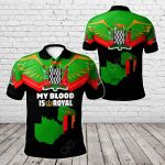 Zambia - My Blood Is Royal All Over Print Polo Shirt