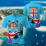 Fiji Masi Coat of Arms Coconut All Over Print Polo Shirt