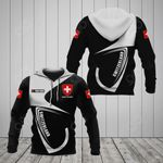 Customize Switzerland Coat Of Arms & Flag All Over Print Hoodies