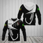 Customize Zambia Coat Of Arms & Flag All Over Print Hoodies