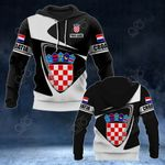Customize Croatia Coat Of Arms - Flag V2 All Over Print Hoodies