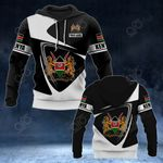 Customize Kenya Coat Of Arms - Flag V2 All Over Print Hoodies