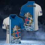 Customize Iceland Coat Of Arms - Special Version All Over Print Polo Shirt