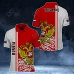 Customize Russia Coat Of Arms - Special Version All Over Print Polo Shirt
