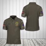 Customize Puerto Rico Coat Of Arms Camo All Over Print Polo Shirt