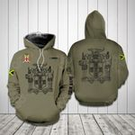 Customize Jamaica Coat Of Arms All Over Print Hoodie