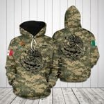 Customize Mexico Coat Of Arms Camo All Over Print Hoodie