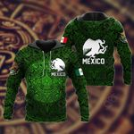 Mexico Aztec - Green All Over Print Hoodies