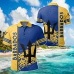 Barbados Coat Of Arms Quarter Style All Over Print Polo Shirt