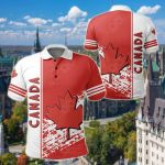 Canada Coat Of Arms Quarter Style All Over Print Polo Shirt