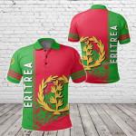 Eritrea Coat Of Arms Quarter Style All Over Print Polo Shirt