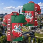 Lithuania Coat Of Arms Quarter Style All Over Print Polo Shirt