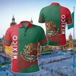 Mexico Coat Of Arms Quarter Style All Over Print Polo Shirt
