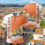 Netherlands Coat Of Arms Quarter Style All Over Print Polo Shirt