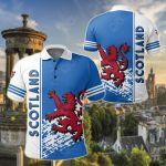 Scotland Coat Of Arms Quarter Style All Over Print Polo Shirt