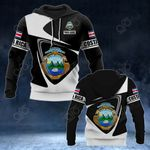 Customize Costa Rica Coat Of Arms - Flag V2 All Over Print Hoodies