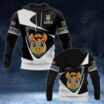 Customize South Africa Coat Of Arms - Flag V2 All Over Print Hoodies