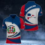 Dominican Republic Coat Of Arms Map - New Form All Over Print Polo Shirt