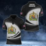 United Kingdom Coat Of Arms Map - New Form All Over Print Polo Shirt