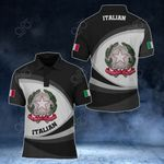 Italian Coat Of Arms Map - New Form All Over Print Polo Shirt