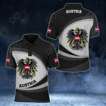 Austria Coat Of Arms Map - New Form All Over Print Polo Shirt