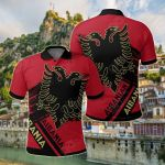 Albania Coat Of Arms Identifier All Over Print Polo Shirt