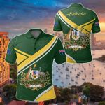 Australia Coat Of Arms Victory All Over Print Polo Shirt