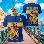 Barbados Version Coat of Arms All Over Print Polo Shirt