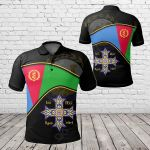 Eritrea - Eritrean Coptic Cross All Over Print Polo Shirt